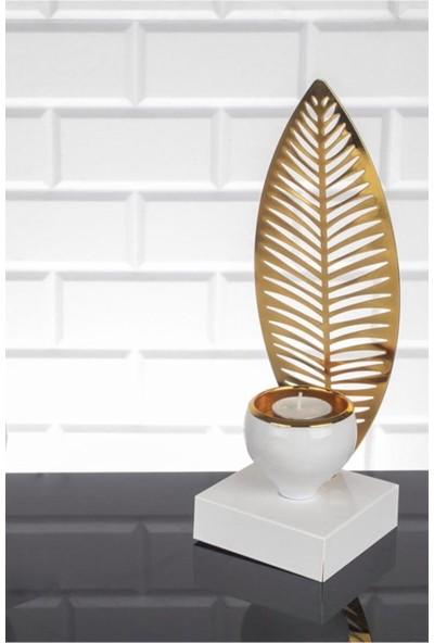 Zeyve Roma Palmiye Mumluk Beyaz Sarı BZ-RM50 Ba