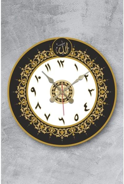 Revello Ayet Tasarımlı Bombeli Duvar Saati Ayet-Yeni-1