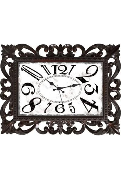 Nil Saat Serisi - Siyah Bordo Duvar Saati