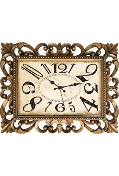 Nil Saat Serisi -Altın Eskitme Duvar Saati