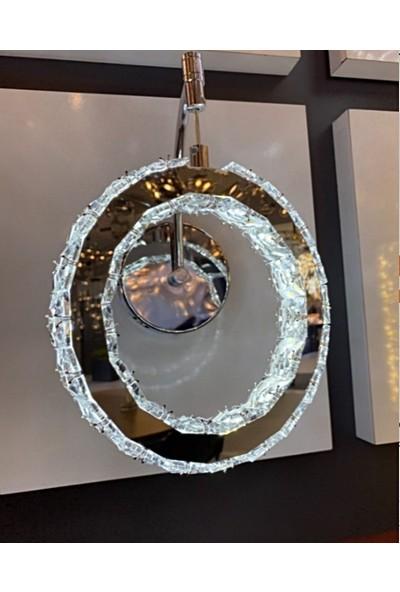 Burenze Krom Kristal Taşlı LED Aplik BURENZE778