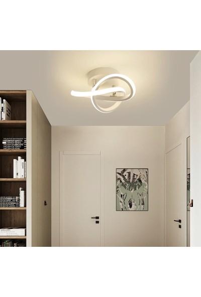 Burenze Modern Plafonyer Tavan LED Avize Krom Beyaz Işık BURENZE758