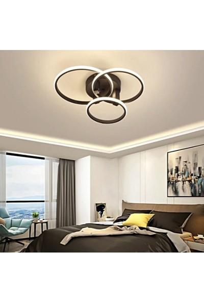 Burenze A+ Modern Plafonyer Power LED Avize Kademeli 3 Renk Concept Ürün Koyu Kahve BURENZE30