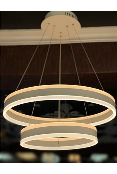 Burenze A+ Luxury Modern Ikili Sarkıt Power LED Oval Avize Kademeli 3 Renk Concept Ürün BURENZE288