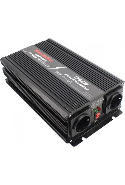 Max Extra LRP1000 Tam Sinüs Inverter Dönüştürücü 1000 W