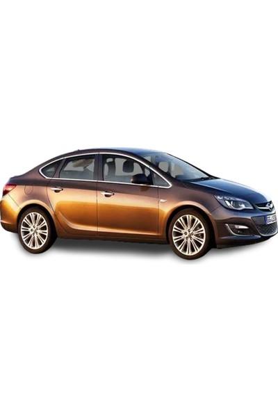 Blueoto Opel Astra J Sedan Krom Cam Çerçeve Seti 12 Parça 2012-2020 Paslanmaz Çelik Krom Cam Çıtası