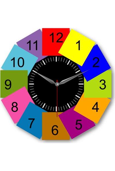 Makeart Baby Çocuk Eğitim Mdf Duvar Saatleri - Renkler Model-6