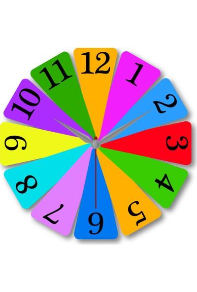 Makeart Baby Çocuk Eğitim Mdf Duvar Saatleri - Renkler ve Sayılar