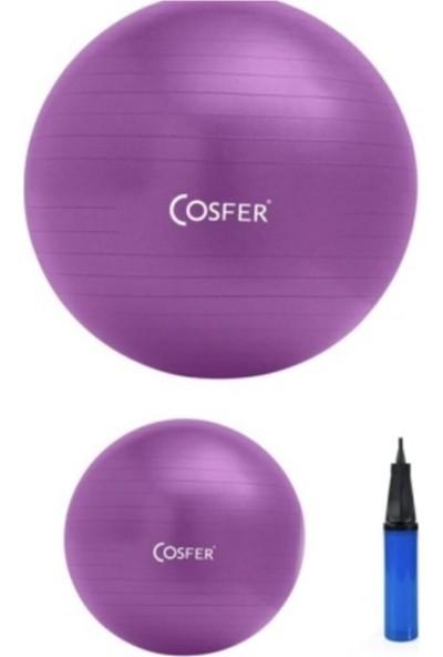 Cosfer Sportif Mor Pilates Çemberi ve Termal Bel Kemeri 2 Li Fitness Seti