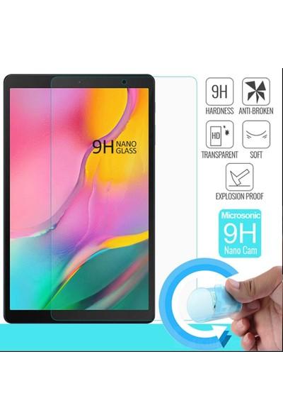 i-Stone Samsung Galaxy Tab A SM-T510 10.1 inç Köşe Korumalı Anti Şok Şeffaf Tablet Kılıfı + Nano Glass Ekran Koruyucu Şeffaf