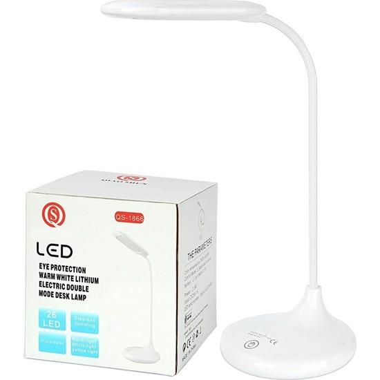 Sezy Dokunmatik Şarjlı Katlanabilir Kitap Okuma ve Masa Lambası 26 LED Günışığı ve Beyaz