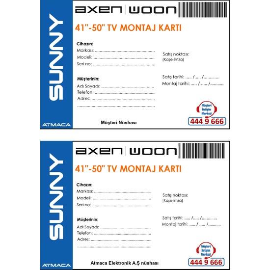"Sunny Axen Woon Montaj - Tanıtım 41-50"" Dahil Montaj Kart Ücreti"
