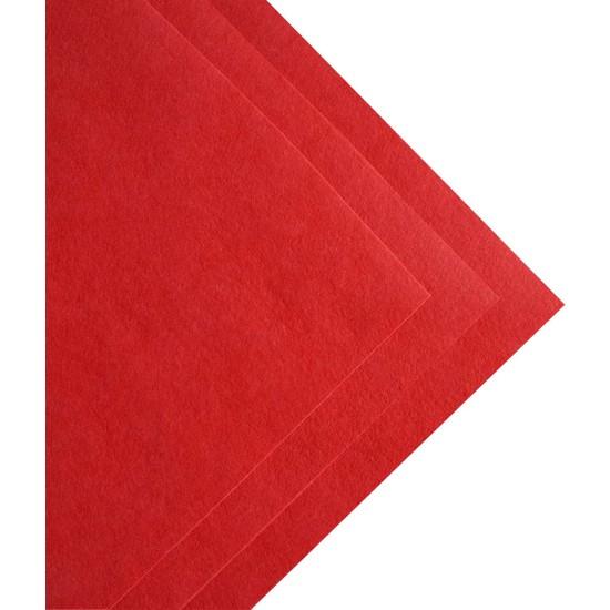 Toptan Keçe Kırmızı Ince Keçe 1 Metre (100X100 Cm), Kırmızı Hobi Keçe