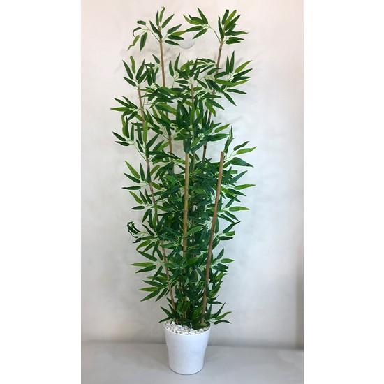 Bahçem Yapay Yapraklı Dekoratif Bambu Ağacı 6 Gövde