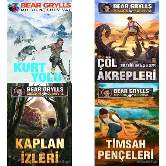Bear Grylls Mission Survival 4 Kitap Set (Kurt Yolu- Çöl Akrepleri- Kaplan İzleri- Timsah Pençeleri)