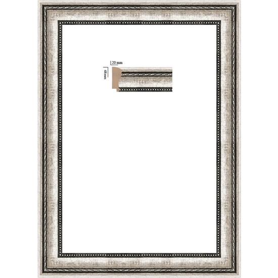 Selçuklu Sanat Puzzle Çerçevesi 48 mm 34 x 48 cm 500'lük Gümüş