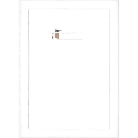 Selçuklu Sanat Puzzle Çerçevesi 22 mm 50 x 70 cm 1000'lik Beyaz