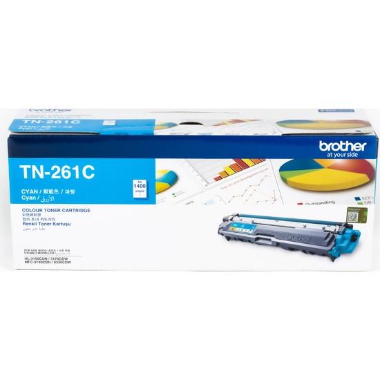 BROTHER TN-261C Mavi Toner (1400 Sayfa)