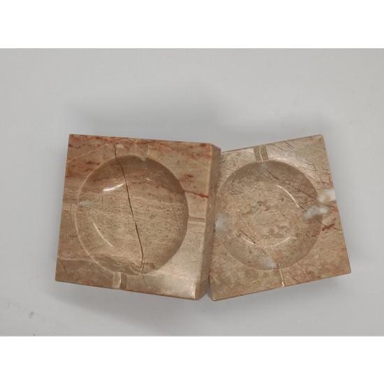 Pergamon 3 cm Kalın Mermer Küllük Bej Renk