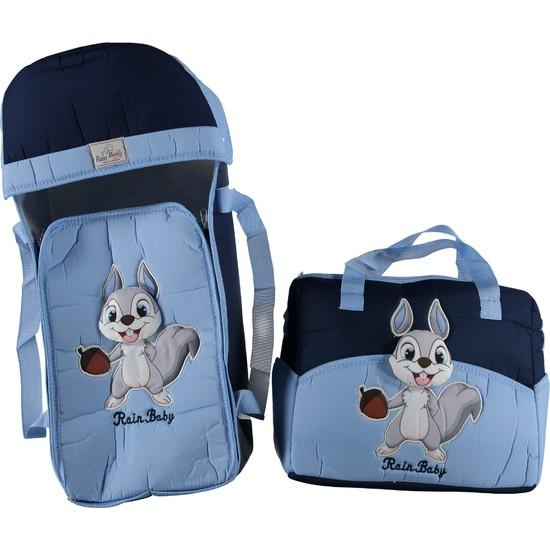Rain Baby Kabartma Sincap Temalı Erkek Bebek Ikili Taşıma Seti