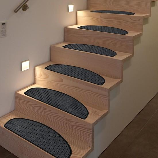 Stepmat Bukle Halıdan Kaymaz Tabanlı Merdiven Basamak Paspası / Halısı