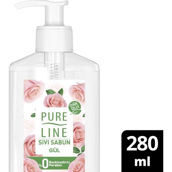 Pure Line Doğal Özler Sıvı Sabun Gül 280 ml