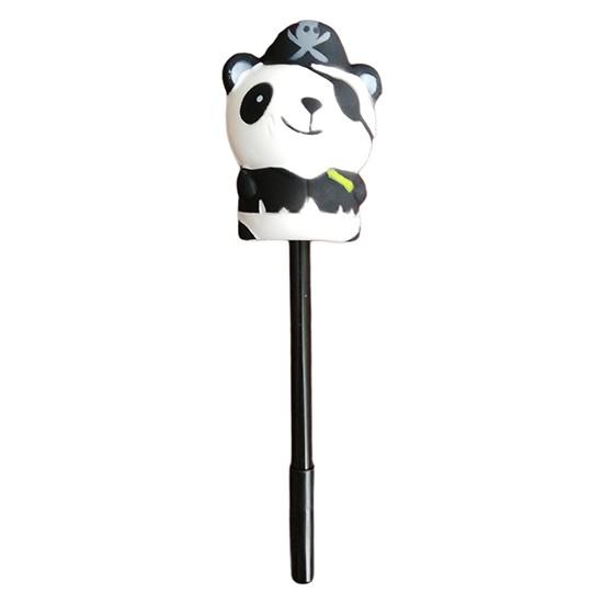 Squishy Korsan Panda Jel Tükenmez Kalem Tekli