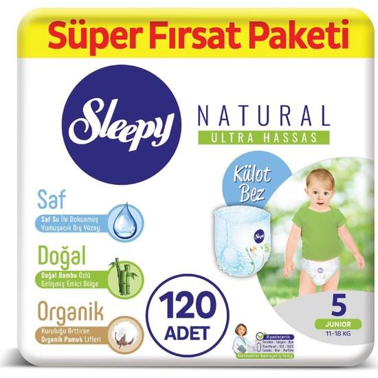 Sleepy Natural Külot Bez 5 Numara Junior Süper Fırsat Paketi 11 - 18 kg