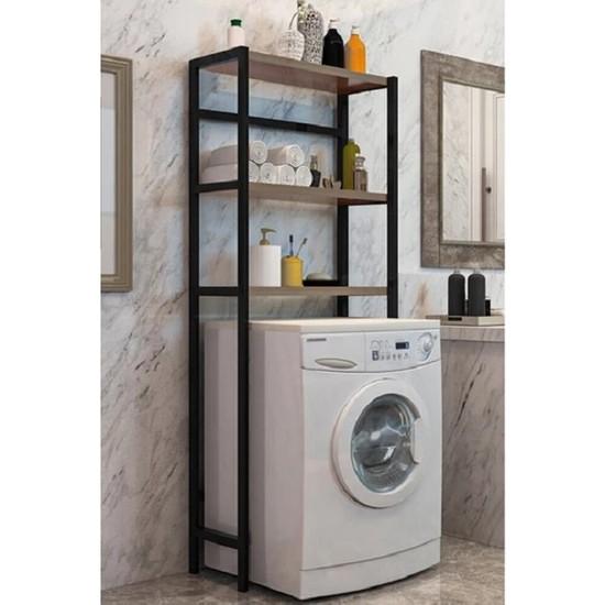 Cosargroup Çamaşır Makinesi Üstü Düzenleyici Banyo Dolabı Ceviz