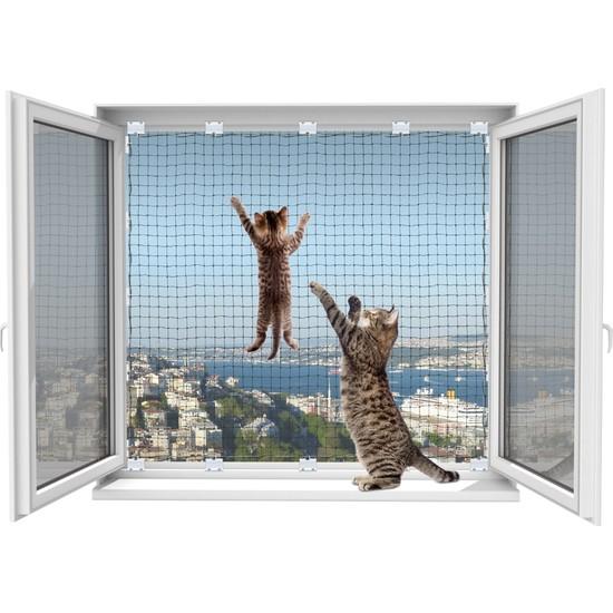 Winblock Pets Balkonlar Için Kedi Güvenli Ağı 300 x 400 cm