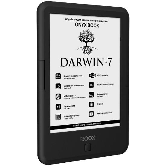 "Onyx Boox Darwin-7 Siyah 6""/8gb/4 Core/e Ink Carta Plus Sensor/android/wi-Fi/audio"