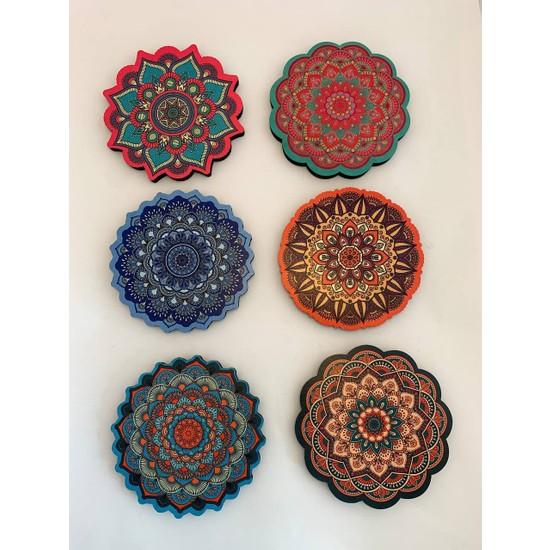 Misina Shop Mandala Desenli Bardak Altlığı