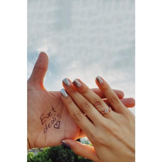 Melodi 14K Rose Gold Izlanda Evlilik Yüzüğü Ayarlanabilir Ölçü