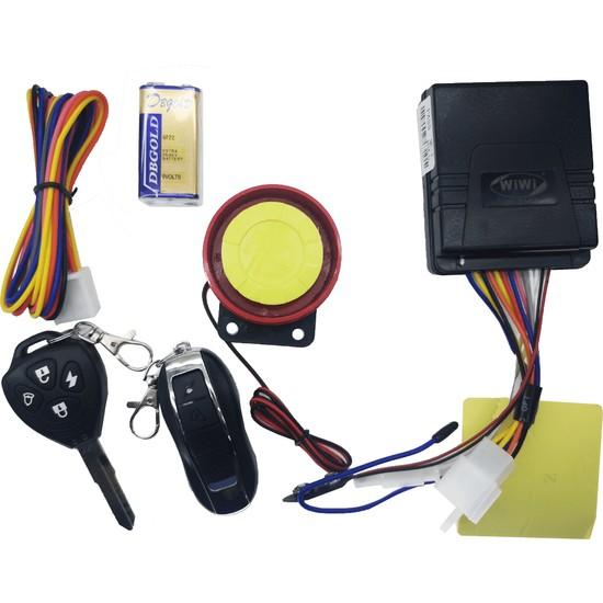 Monero Motosiklet Alarm Ve Çalıştırma Seti Pil Destekli