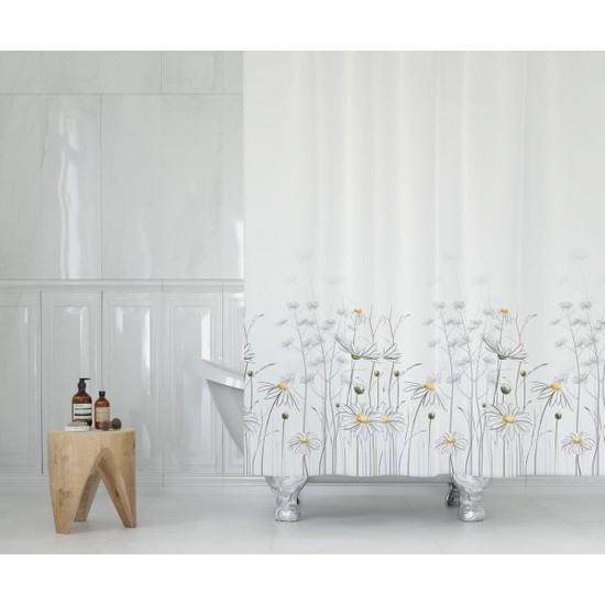 Tekstil Sepeti Daisy Çift Kanatlı Duş Perdesi