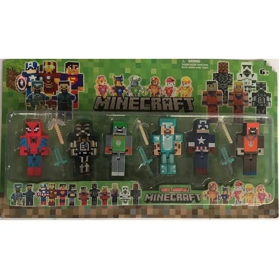 Minecraft Spıderman Kaptan Amerika Paw Patrol 12 'li Oyuncak