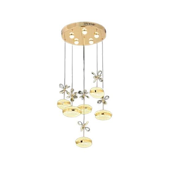 Burenze Gold Sarı Modern Sarkıt Power LED Avize Concept Ürün Beyaz Işık BURENZE473