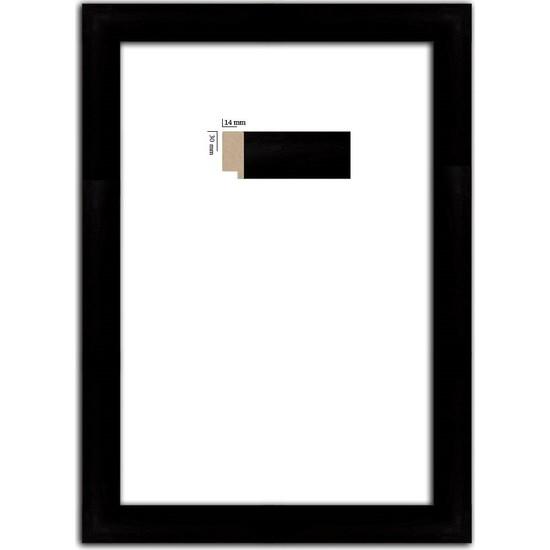 Selçuklu Sanat Puzzle Çerçevesi 30 mm 68 x 96 cm 2000'lik Siyah