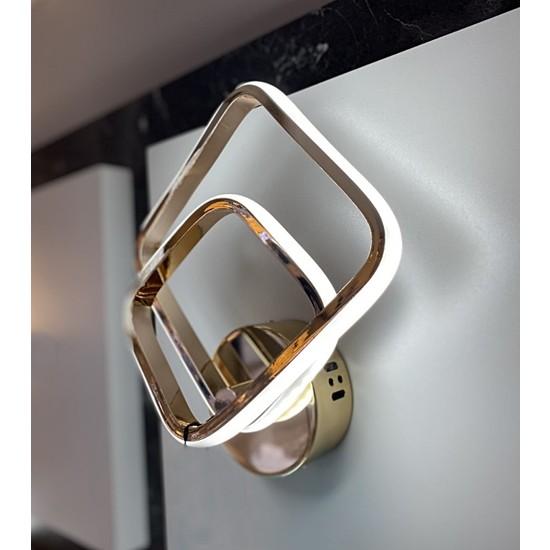 Burenze Gold Sarı Luxury Modern Duvar LED Aplik Kademeli 3 Renk BURENZE723