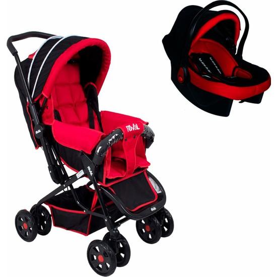 Chubby Baby Rival Lucido Travel Sistem Bebek Arabası + Chubby Baby Lüx Taşıma + Yağmurluk