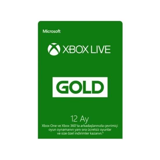 Microsoft Xbox Live Gold Üyeliği - 12 Ay