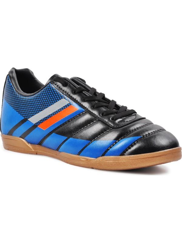 Walkway WLF2323 Siyah-Mavi-Turuncu Erkek Futsal Ayakkabı