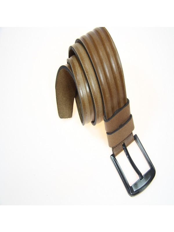 Ysk Deri 4,5 cm Spor Şerit Detaylı Erkek Kemer