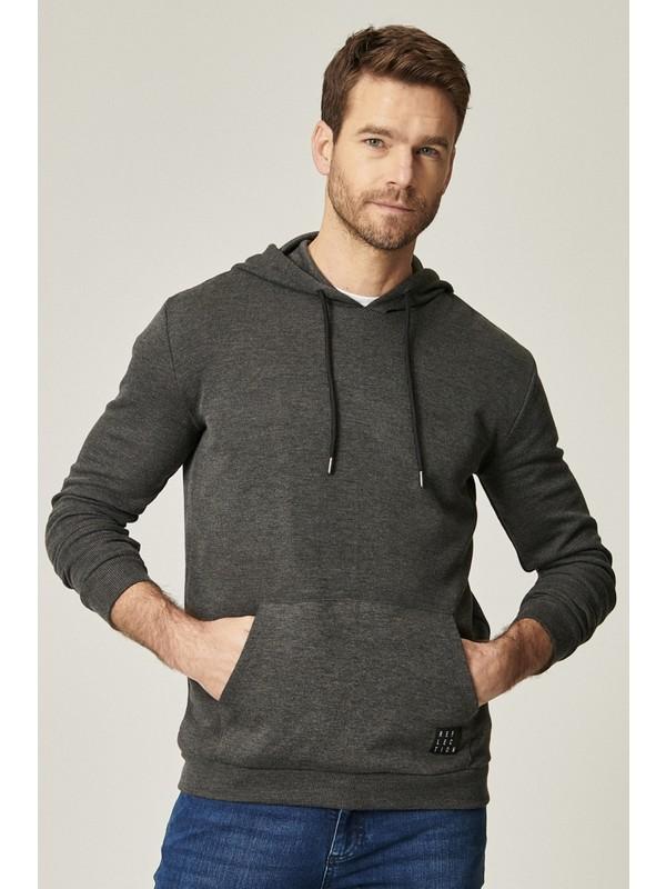 Altınyıldız Classics Standart Fit Kanguru Cepli Kapüşonlu Spor Sweatshirt