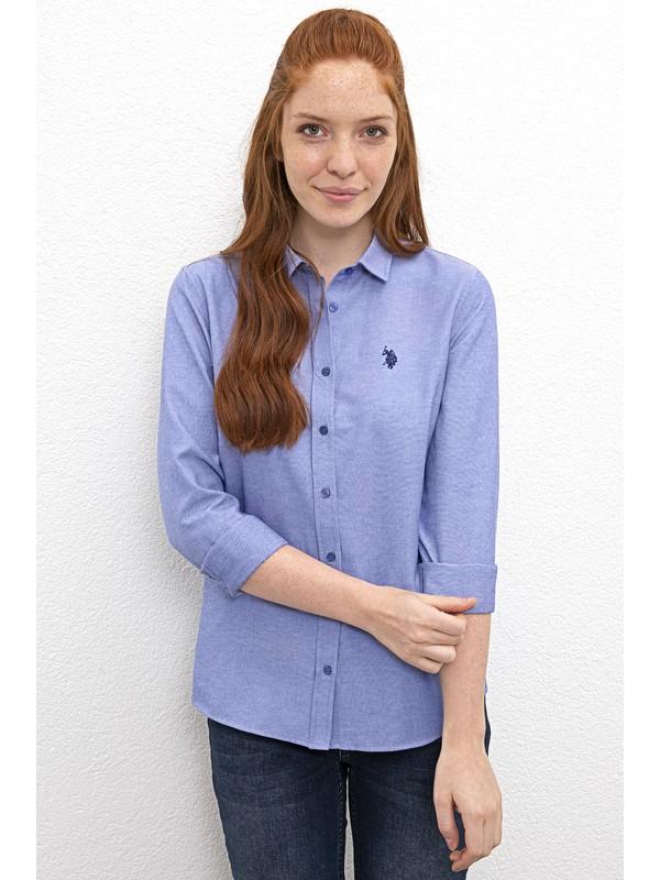 U.S. Polo Assn. Mavi Gömlek Uzunkol Basic 50237226-Vr045