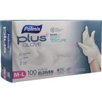 Polmix Plus Glove Şeffaf Pudrasız Eldiven Nano Tech 100'LÜ M-L