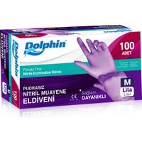 Dolphin Lila Nitril Eldiven Pudrasız (Medium) 100'lü Paket