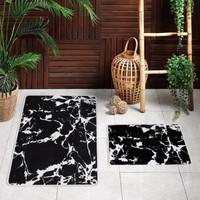 Payidar Banyo Halısı Kaymaz Tabanlı Ikili Klozet Takımı 040 Siyah 60X100 cm - 60X50 cm