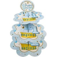 Kullanatparty Prens 1 Yaşında Mavi Cubcake Kek Standı