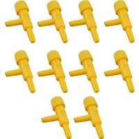 Armatürk Akvaryum Ince Ayarlı Hava Vanası 10 Adet Sarı